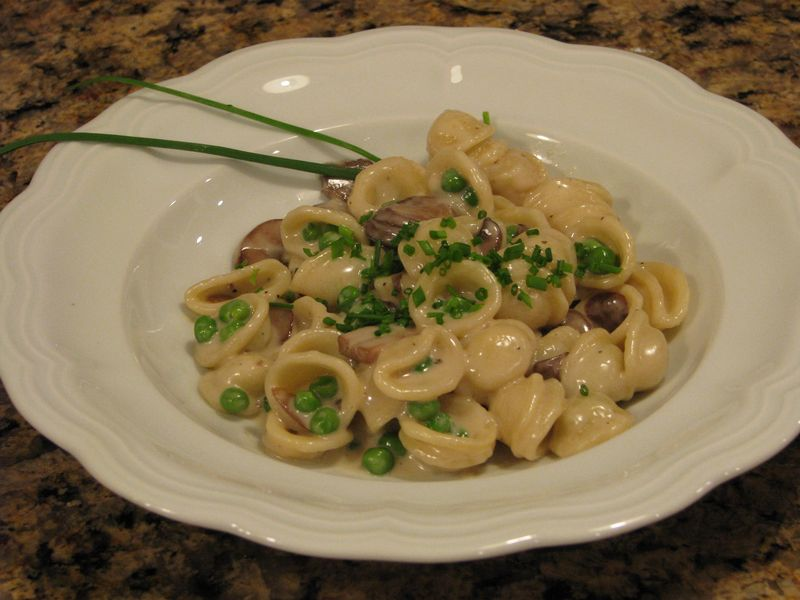 Three Cheese and Mushroom Orecchiette at www.friendsfoodfamily.com