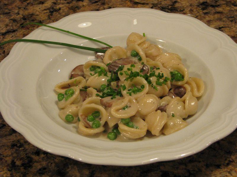 Three Cheese and Mushroom Orecchiette at www.friendsfoodfamily.com