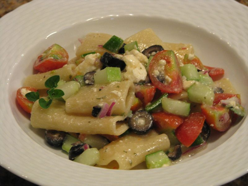 Greek Pasta Salad @ www.friendsfoodfamily.com