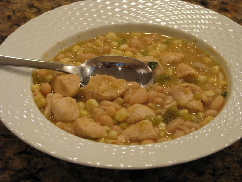 Southern Living's White Bean Chili (with Chicken) @ www.friendsfoodfamily.com