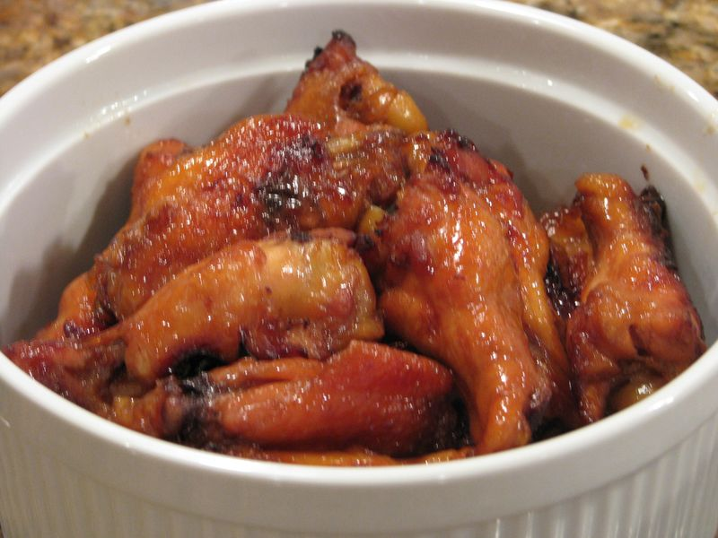 Sticky Chicken Wings @ www.friendsfoodfamily.com