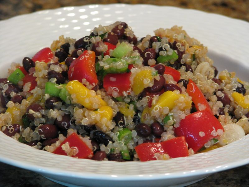Quinoa, mango and black bean salad @ www.friendsfoodfamily.com