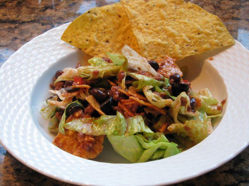 Taco Salad @ www.friendsfoodfamily.com
