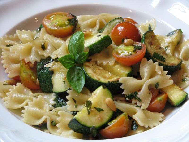 Pasta and summer squash @ www.friendsfoodfamily.com
