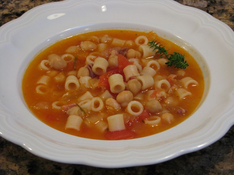 Chick Pea Soup at www.friendsfoodfamily.com