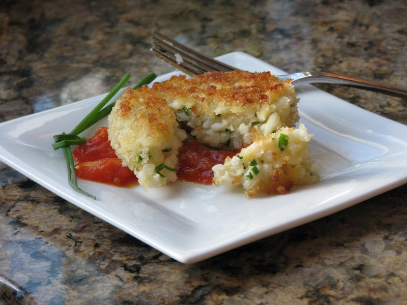 Fontina Risotto Cakes  at Friends Food family