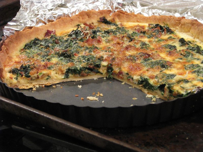 Bacon and Spinach Quiche at Friends Food Family