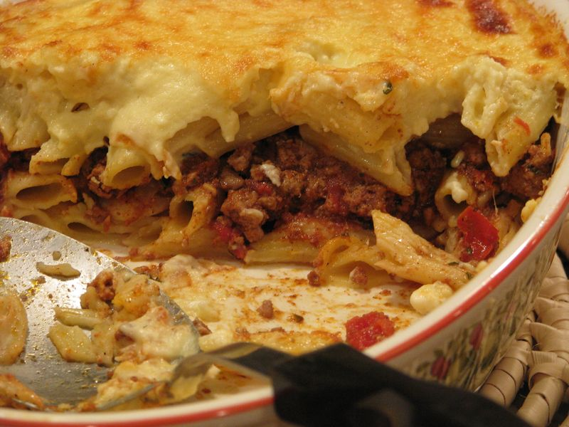 Moroccan-Spiced Pastitsio with Lamb and Feta at Friends Food Family