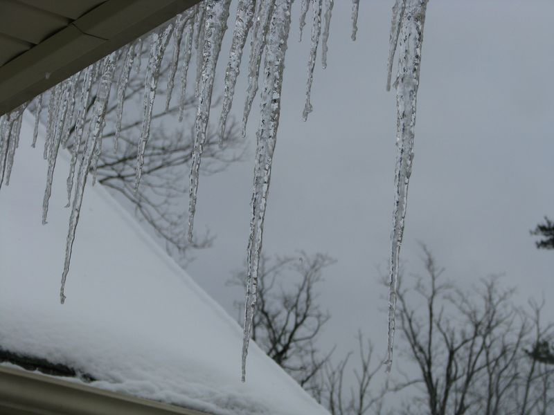 Icicles at Picture Trish