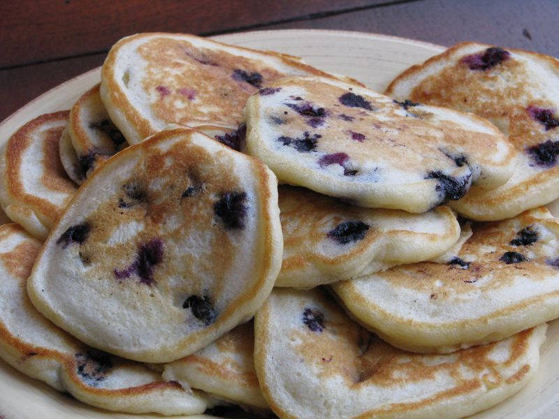 Buttermilk Pancakes with Blueberries at Friends Food Family
