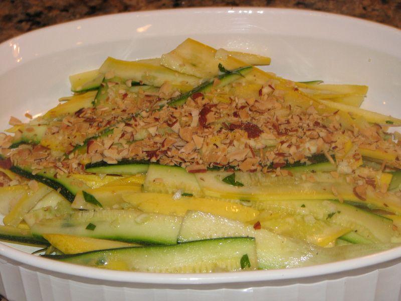 Shaved Summer Squash Salad at Friends Food Family