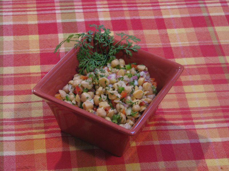 Chunky Chickpea Salsa at www.friendsfoodfamily.com