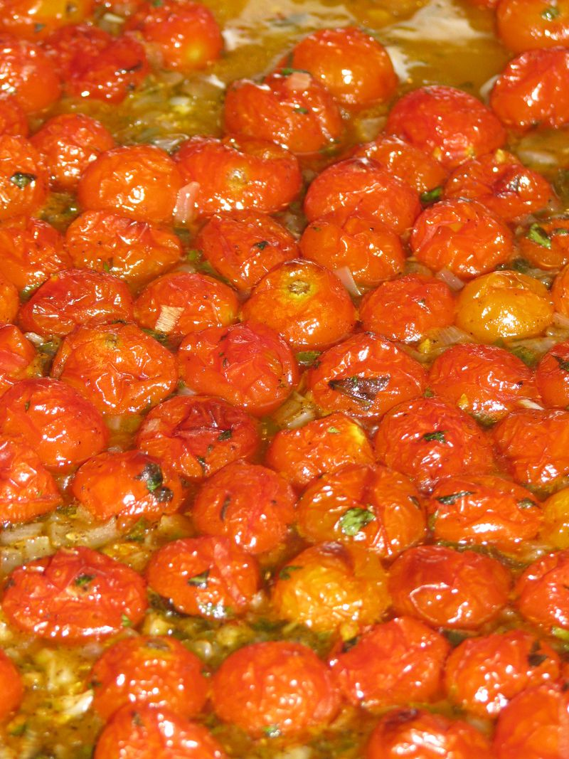 Oven Roasted Cherry Tomato Sauce at www.friendsfoodfamily.com