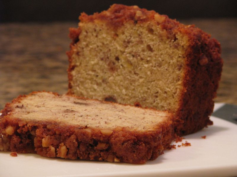 Banana Bread with Streusel Topping at Friends Food Family