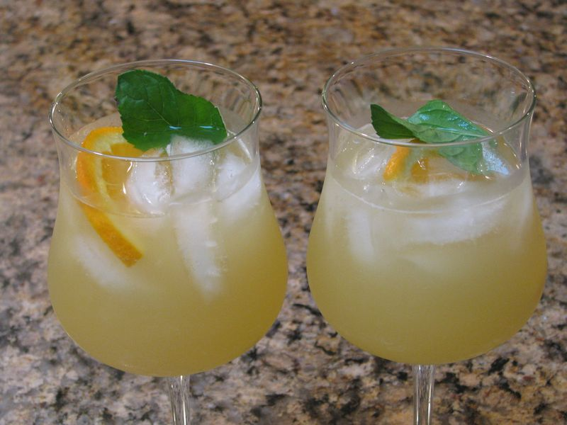 Pineapple Sangria at Friends Food Family