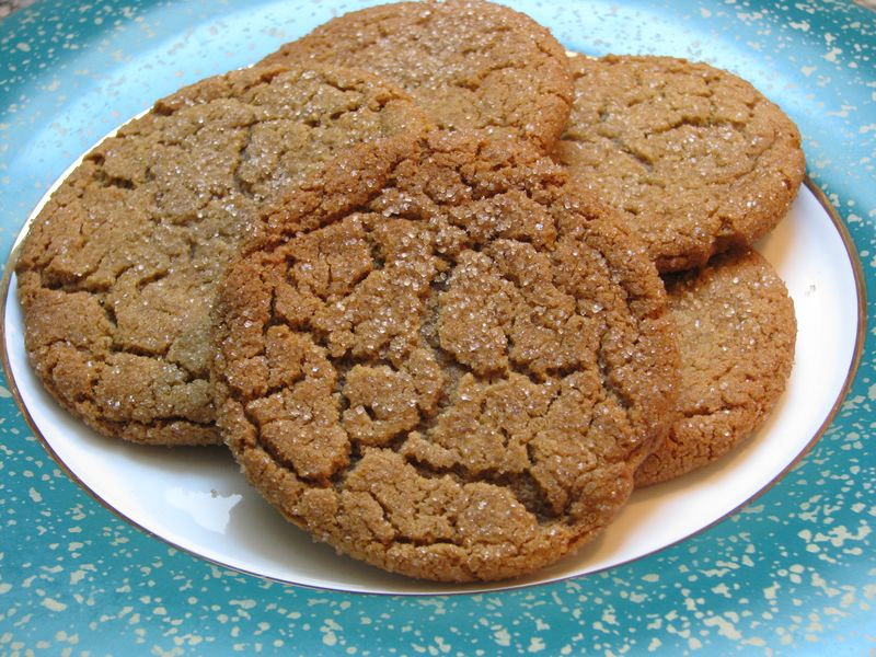 Giant Ginger Cookies @ www.friendsfoodfamily.com