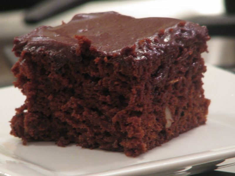 Zucchini Brownies with Chocolate Frosting at Friends Food Family