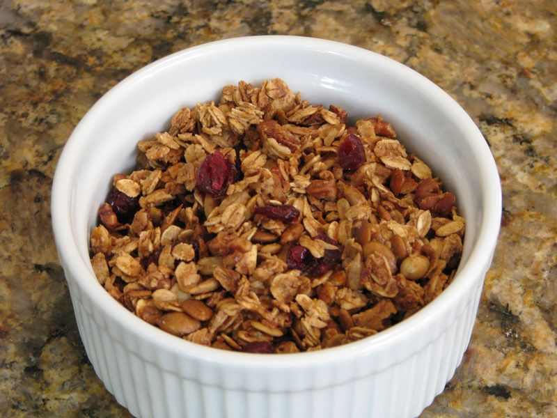 Maple Honey Granola with Pecans, Sunflower and Pumpkin Seeds @ www.friendsfoodfamily.com