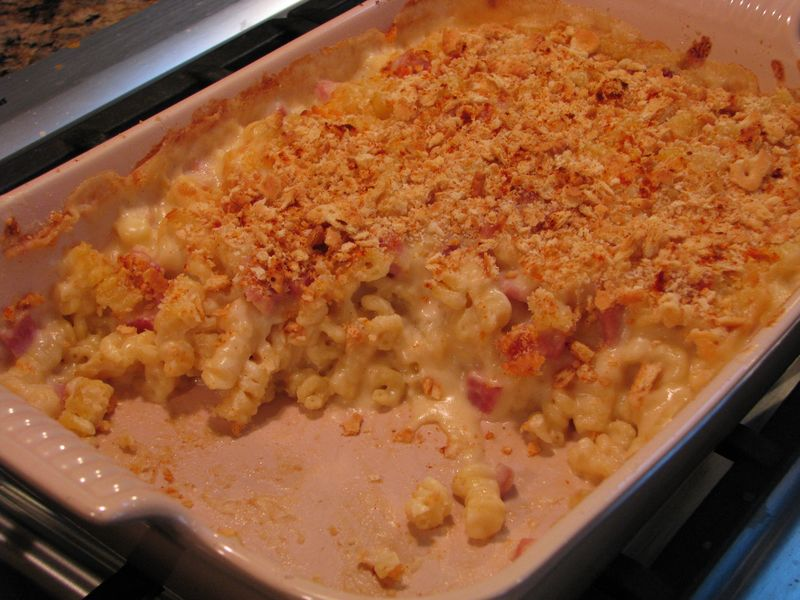 Macaroni and Cheese with Ham at friendsfoodfamily.com