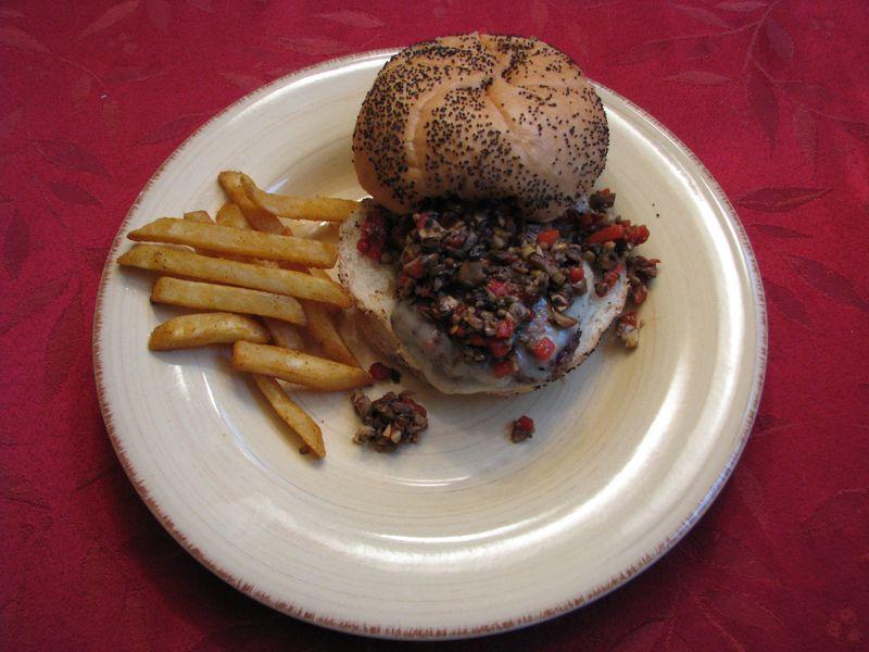 Roasted Red Pepper and Mushroom Spread @friendsfoodfamily.com