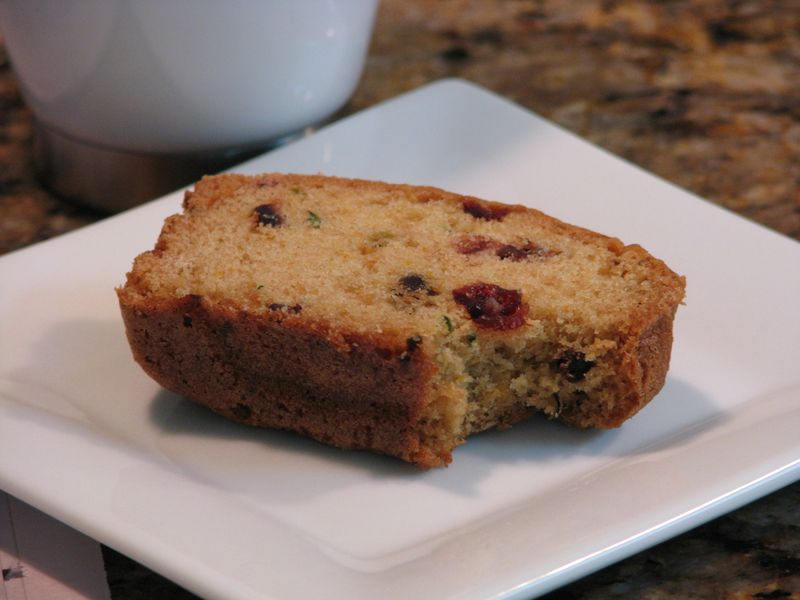 Orange Craisin Zucchini Bread with Mini Chocolate Chips @ friendsfoodfamily.com