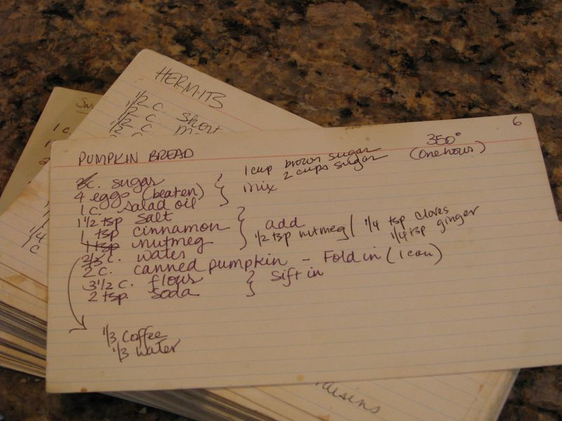 Recipe Card for Pumpkin Bread at FriendsFoodFamily.com