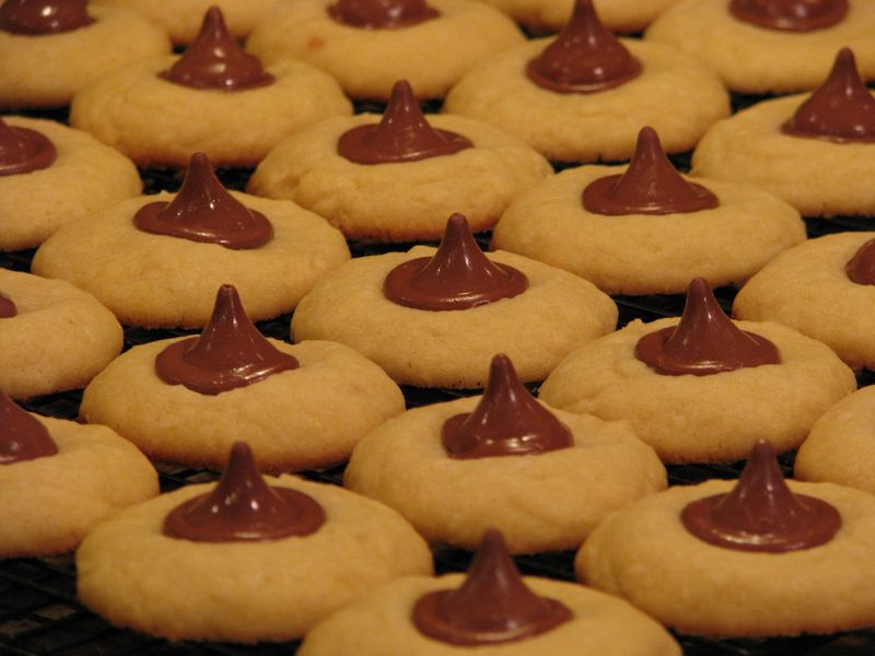 Coconut Shortbread Cookies with Chocolate Macadamia Nut Kisses @ FriendsFoodFamily.com