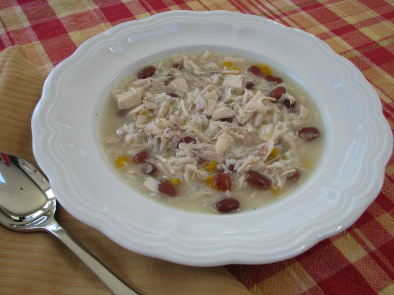 Chicken and Rice Soup with Red Beans @ FriendsFoodFamily.com