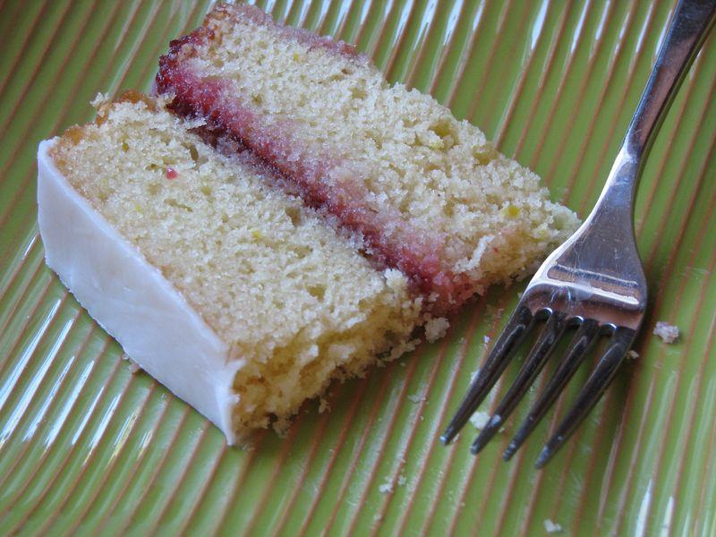B Lemon Raspberry Cake with Lemon Icing @ FriendsFoodFamily.com