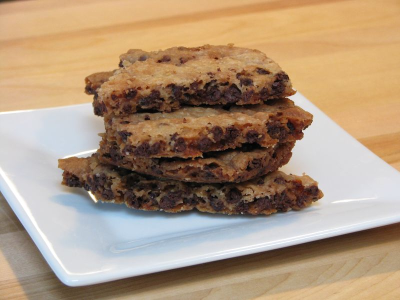 Chocolate Chip Cookie Brittle with Heath Bar Bits @ FriendsFoodFamily.com