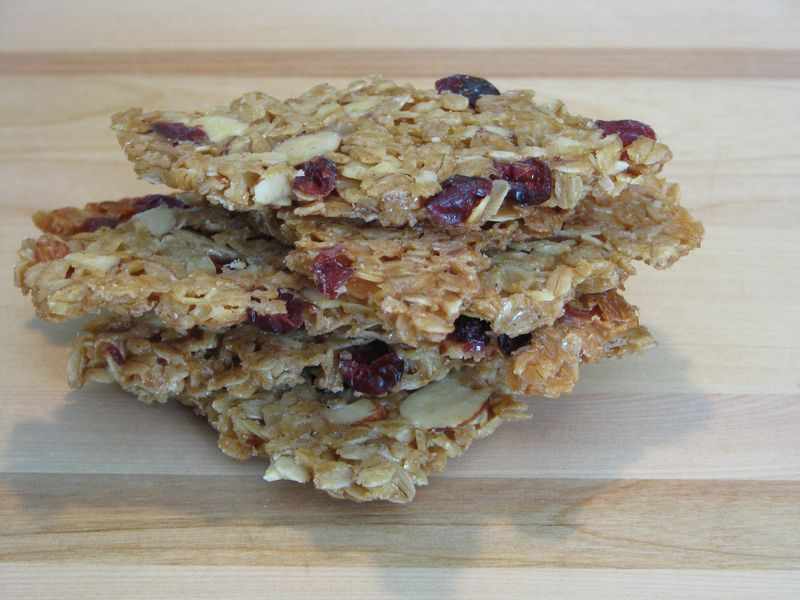 Oatmeal Brittle with Almonds and Craisins @ FriendsFoodFamily.com