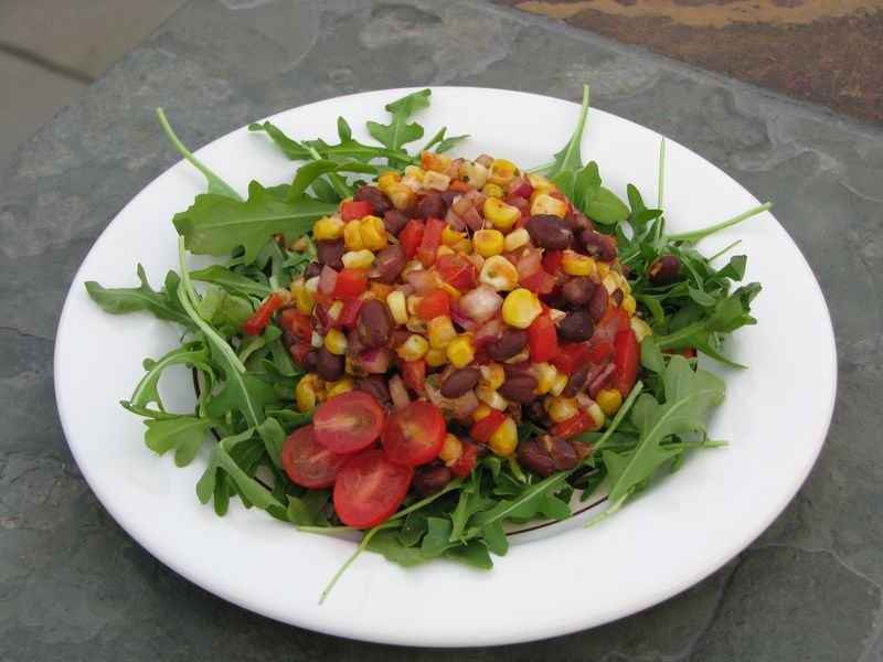 Roasted Corn and Black Bean Salad or Salsa @ FriendsFoodFamily.com