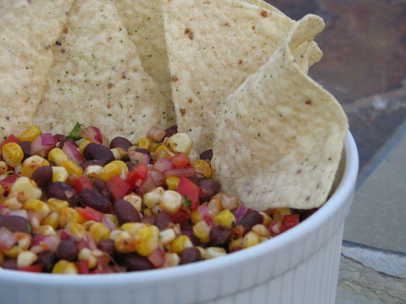 Roasted Corn and Black Bean Salsa @ FriendsFoodFamily.com
