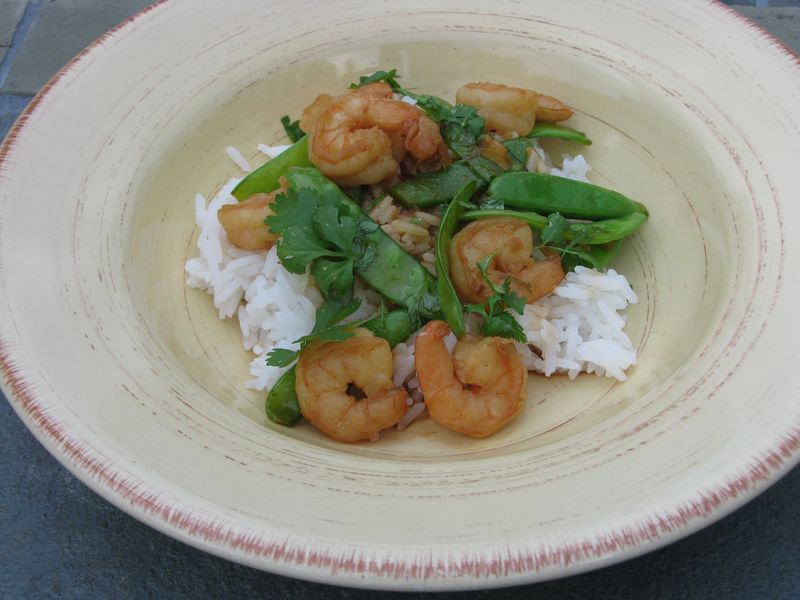 Shrimp with Snow Sea Stir Fry @ FriendsFoodFamily.com