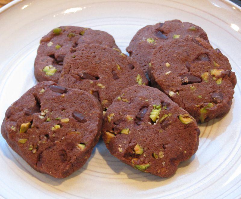 Chocolate Pistachio Sables @ FriendsFoodFamily.com