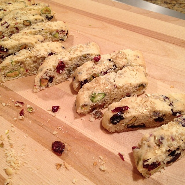 Dried Cherry Pistachio Biscotti - Friends Food Family