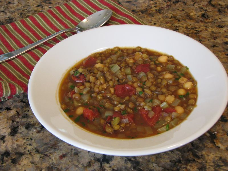 Chickpea and Lentil Soup @ Friendsfoodfamily.com