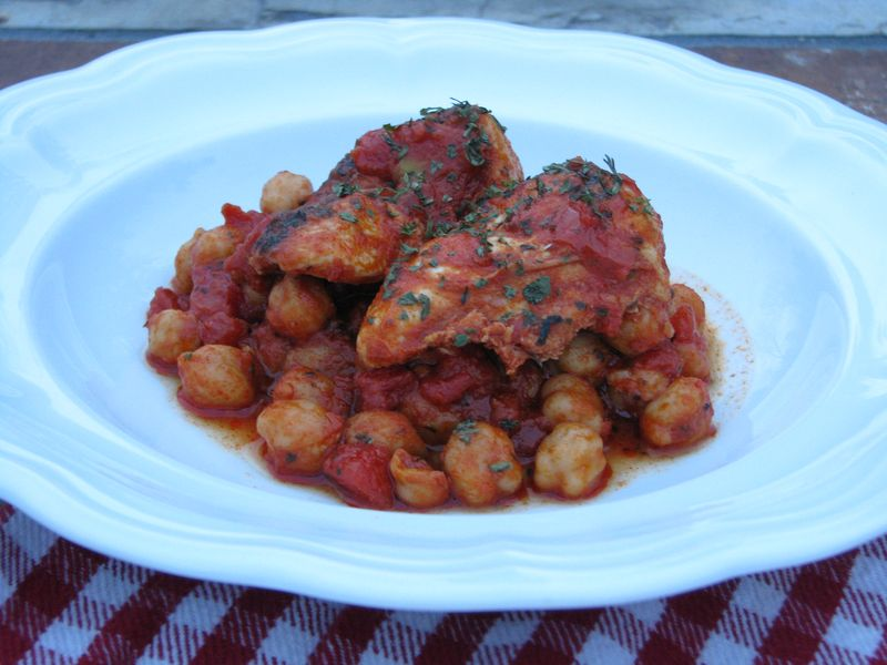 Chicken Tenders with Chick Peas, Tomatoes and Smoked Paprika at Friends Food Family
