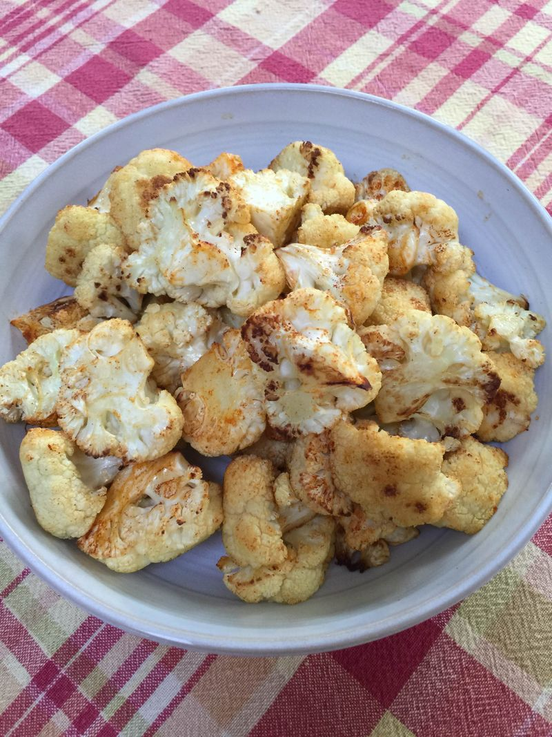 Roasted Cauliflower with Smoke Paprika with Friends Food Family.