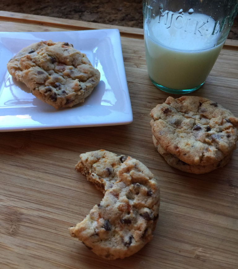 Butterfinger Chocolate Chip Cookies from Friends Food Family